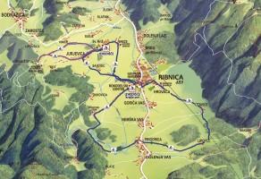 Ribniško polje na zahodu Dolenjske je ujeto med razpotegnjena kraška hrbta: na eni strani se nad njim dviga 1254 metrov visoka Velika gora, na drugi pa slabih tristo metrov nižja Mala gora.