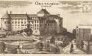 Ortneški grad iz leta 1679, Valvasorjev bakrorez. (Hrani družina Kosler.)